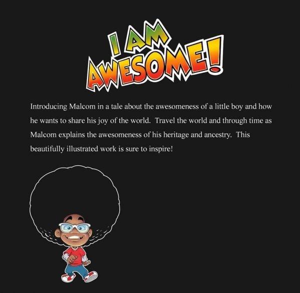Malcom Explains: I Am Awesome Back Cover - Written by Joedy Barnes